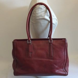 Coach Large Red Leather Tote